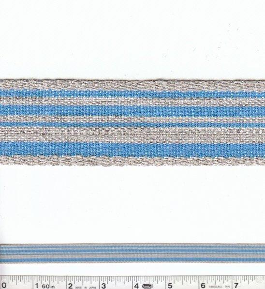 Stripe Trim - Blue