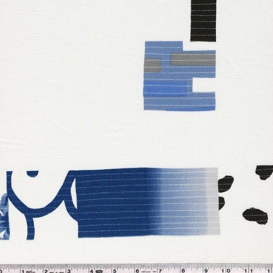 Yoshiko Jinzenji - Stitched Collage - Blues