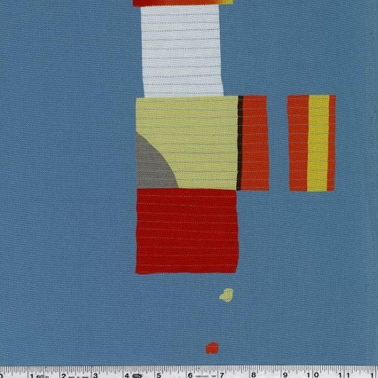 Yoshiko Jinzenji - Stitched Collage - Brights on Slate Blue