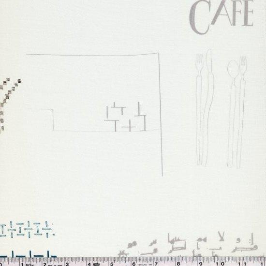 Yoshiko Jinzenji - Cafe Collage - Multi on Ivory