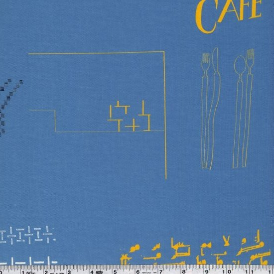 Yoshiko Jinzenji - Cafe Collage - Slate Blue