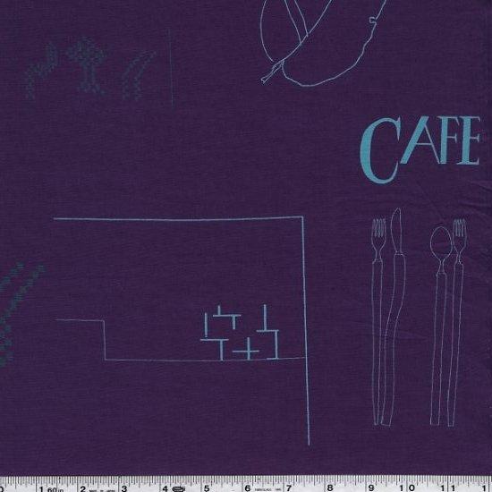 Yoshiko Jinzenji - Cafe Collage - Dark Plum