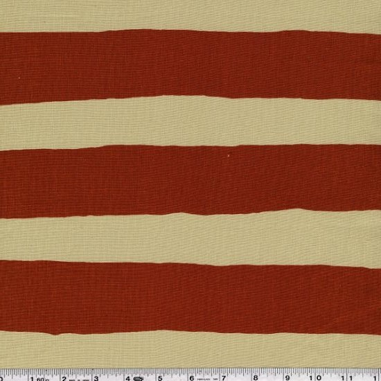 Yoshiko Jinzenji - Stripe Dot - Rust & Olive on Natural
