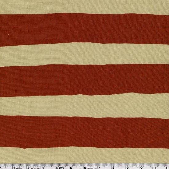 Yoshiko Jinzenji - Stripe Dot - Rust & Olive on Natural