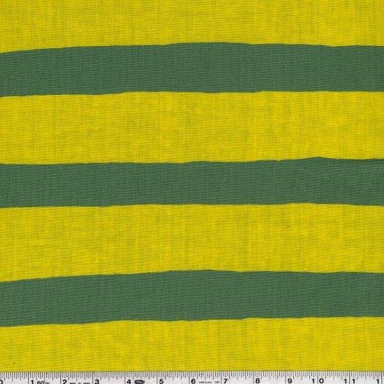 Yoshiko Jinzenji - Stripe Dot - Yellow & White on Green
