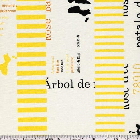 Yoshiko Jinzenji - Rose Petal - Orange & Yellow on Cream