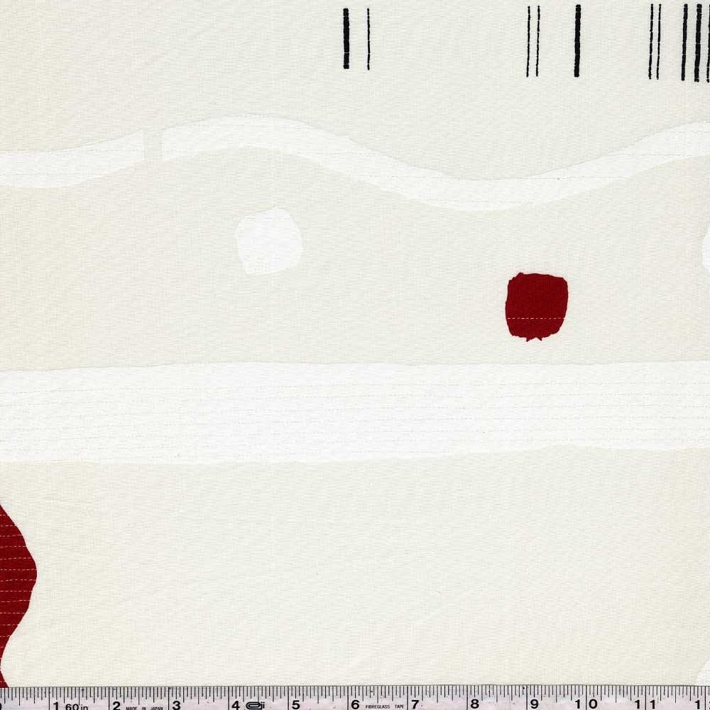 Yoshiko Jinzenji - Quilt - Red & Black on White