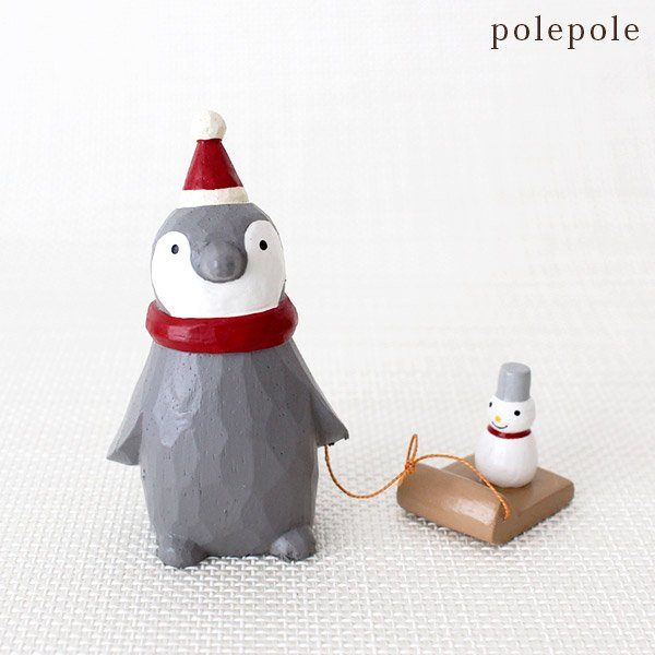 Polepole Animal - Penguin with Sled & Snowman