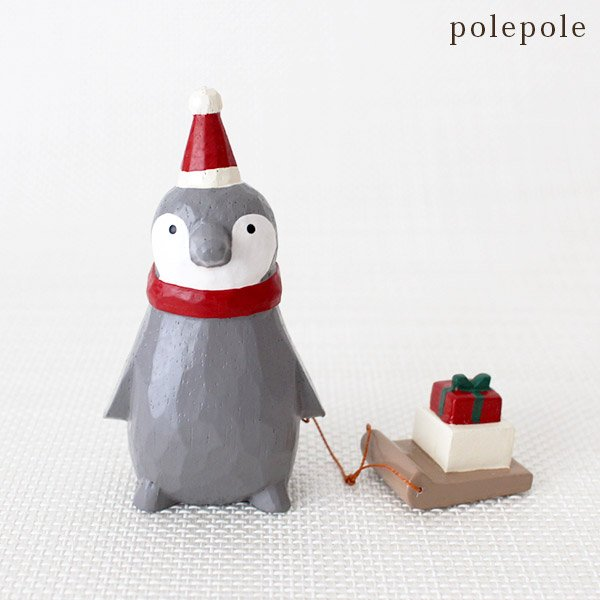 Polepole Animal - Penguin with Sled & Gifts