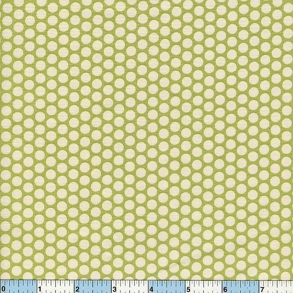 Honeycomb Polka Dots - Grass Green