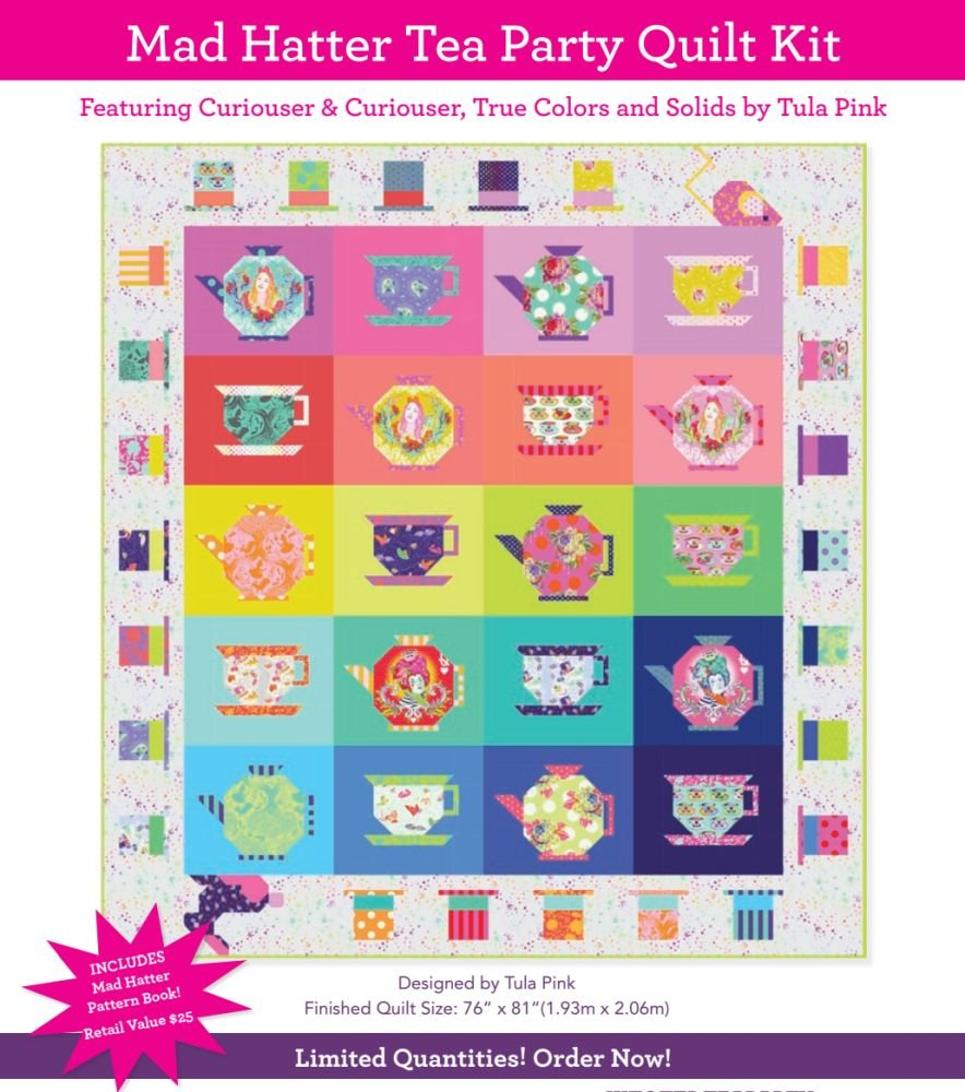 Quilt Kit - Tula Pink Mad Hatter Tea Party