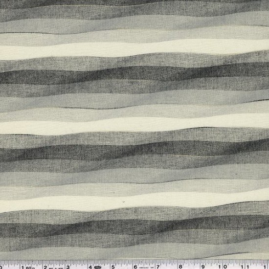 Yarn-Dyed Waves - Ivory & Grey