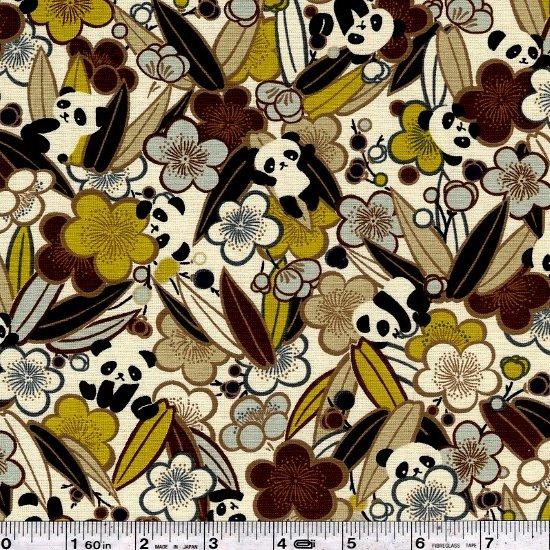 Posy Pandas - Pale Olive Green