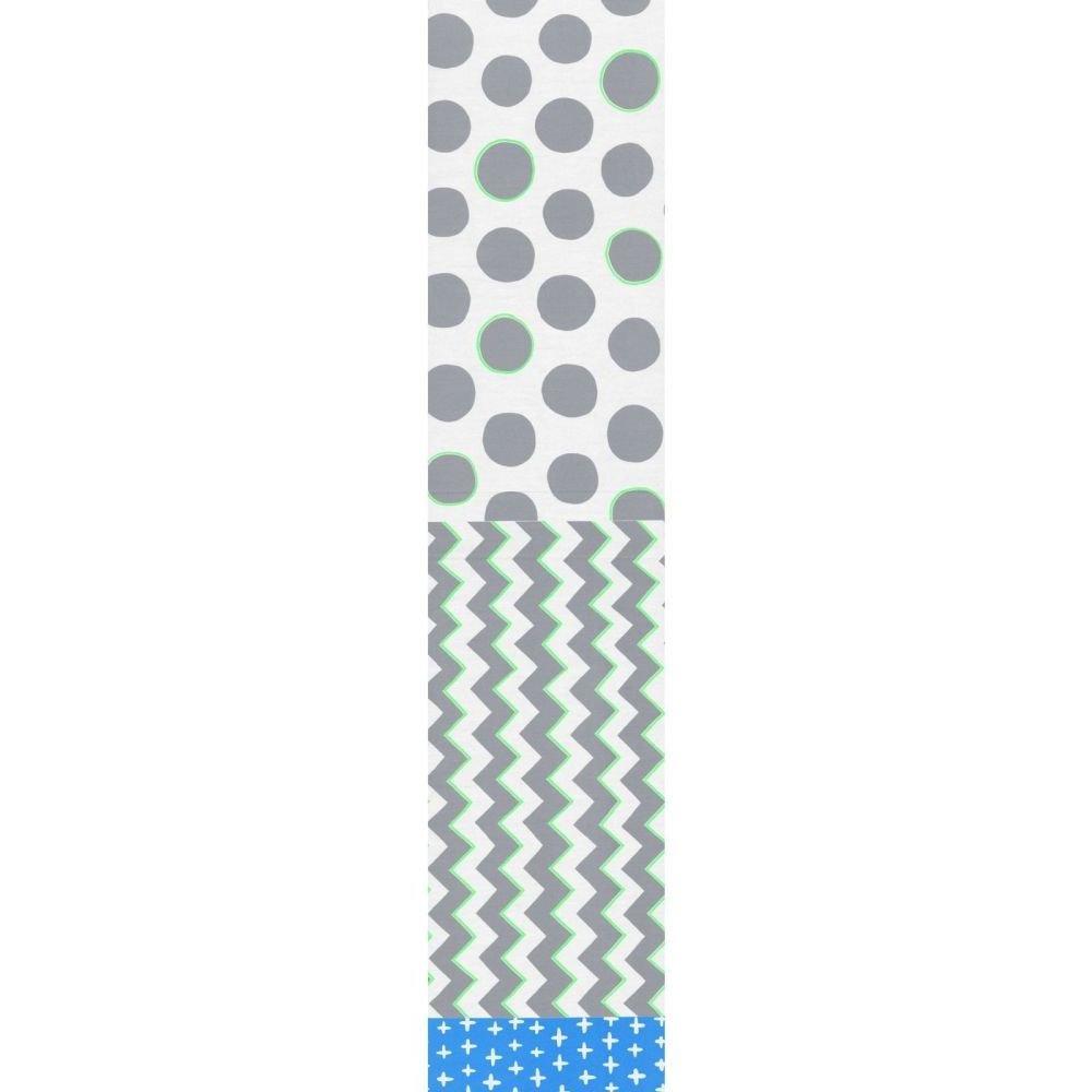 Split Fabric - Plus Zig Spot - Grey
