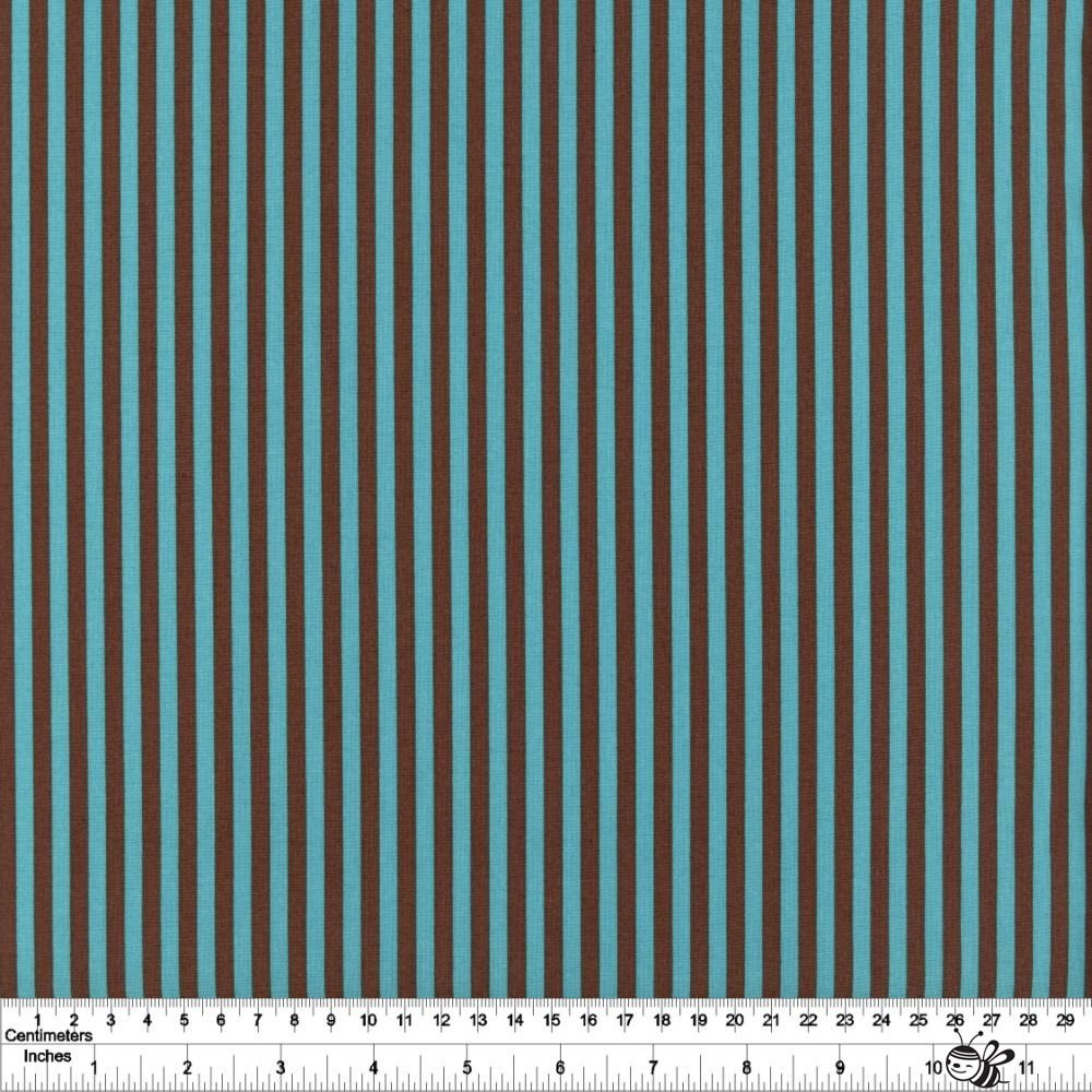 5mm Stripe - Blue & Brown
