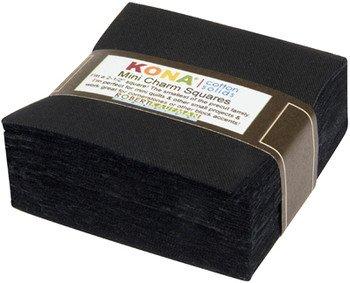 Mini Charm Pack - Kona Cotton 680 - Black