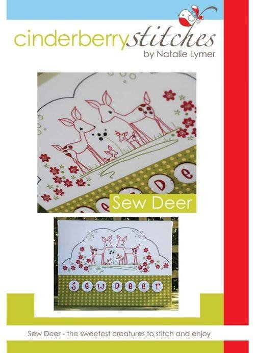 Cinderberry Stitches - Sew Deer Stitchery Kit
