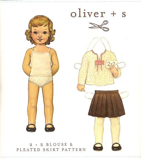 Oliver + S - 2+2 Blouse & Pleated Skirt Pattern 6M-3T
