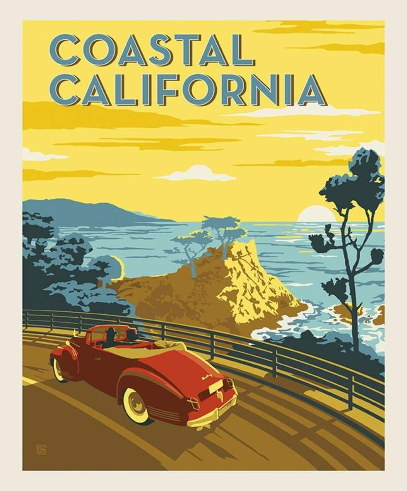 Destinations - Coastal California Poster Panel