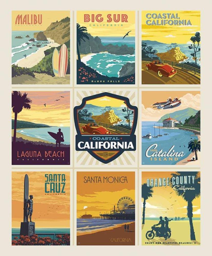 Destinations - California Beaches Poster Panel