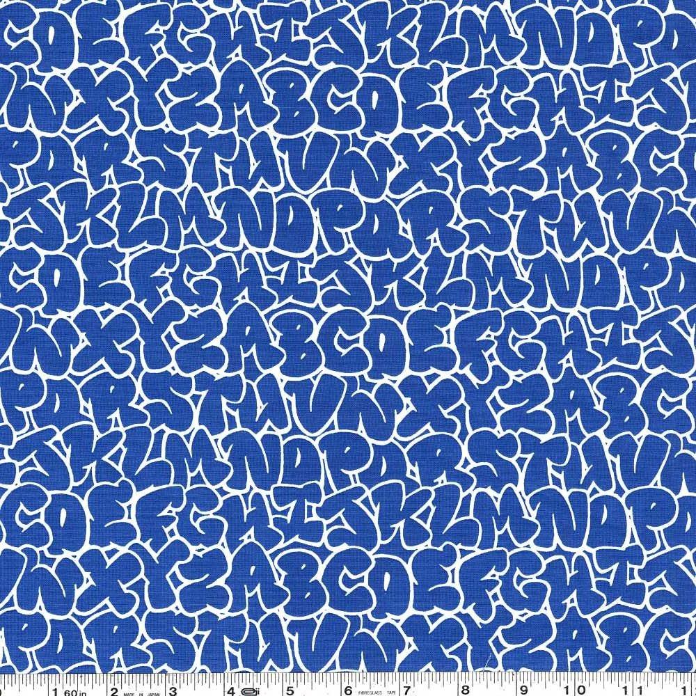 Double Dutch - Bubble Letters - Prussian Blue