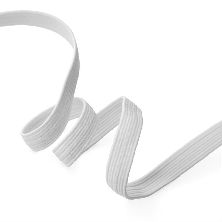 Elastic - 1/4 (6mm) Flat White
