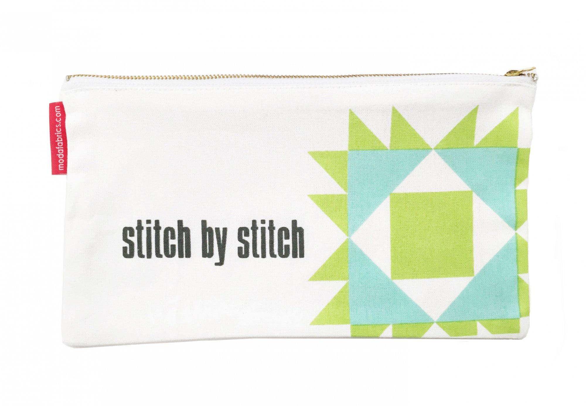 Quilt Block Large Zipper Pouch