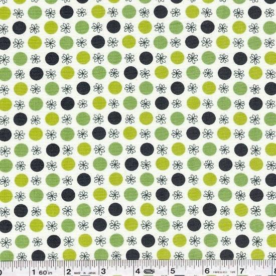 Flea Market Fancy - Flower & Dot - Green