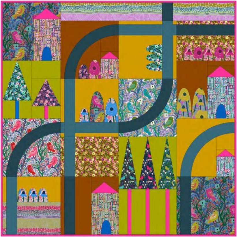 Conservatory: Savernake Road Quilt Pattern PDF
