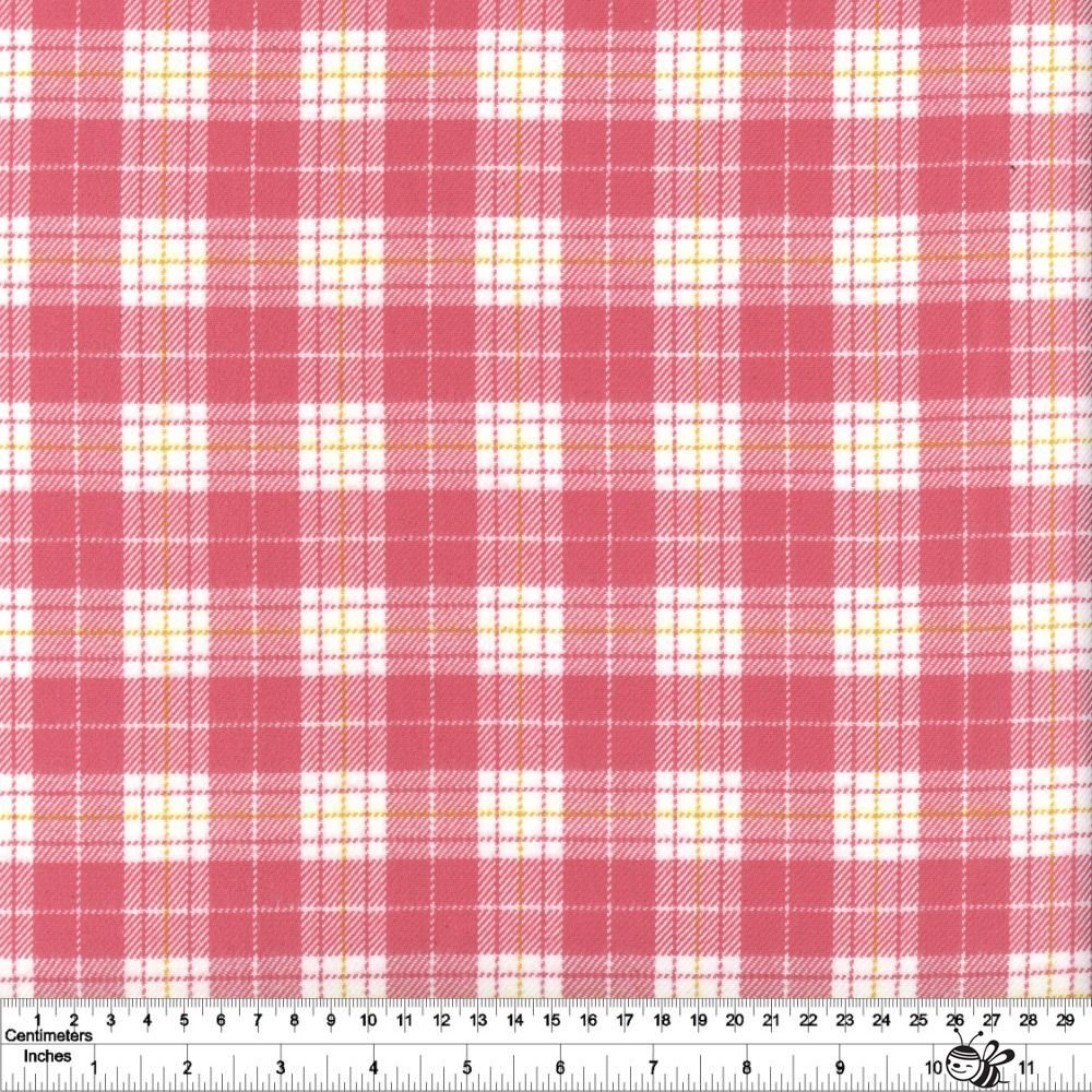 Primo Plaid Yarn Dyed Flannel - Tartan - Pink