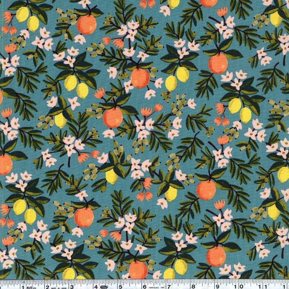 Primavera - Citrus Floral - Teal