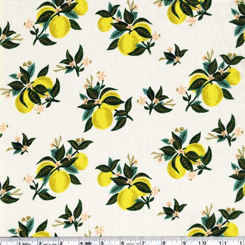 Primavera - Citrus Blossom Rayon - Lemon