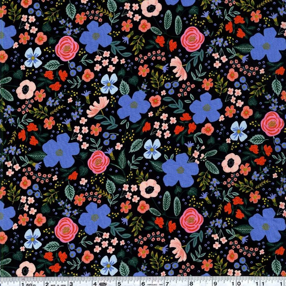 Primavera - Wild Rose Rayon - Black
