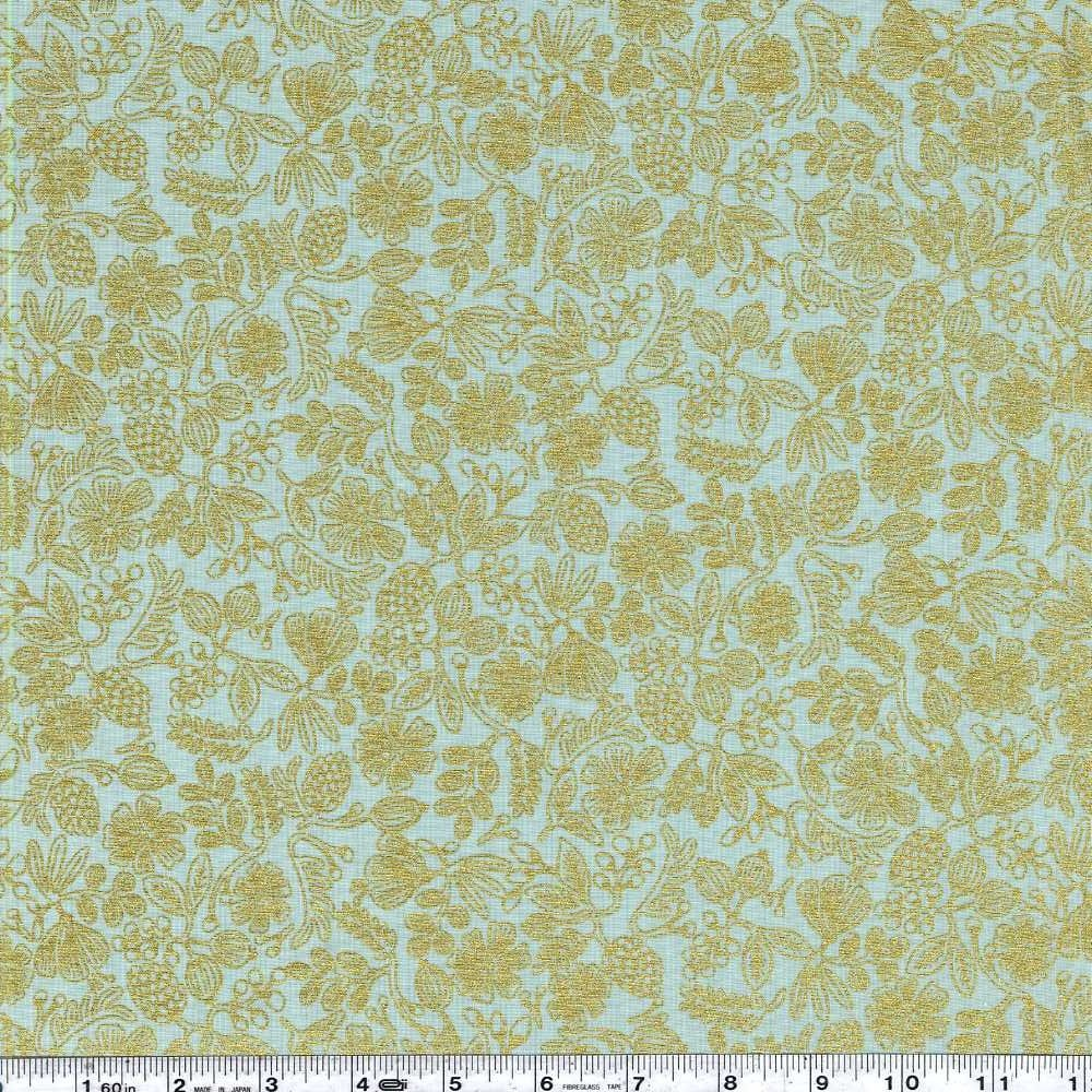 Primavera - Moxie Floral - Mint Metallic