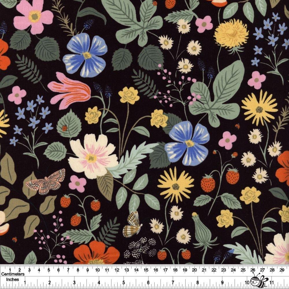 Strawberry Fields - Strawberry Fields Canvas - Black