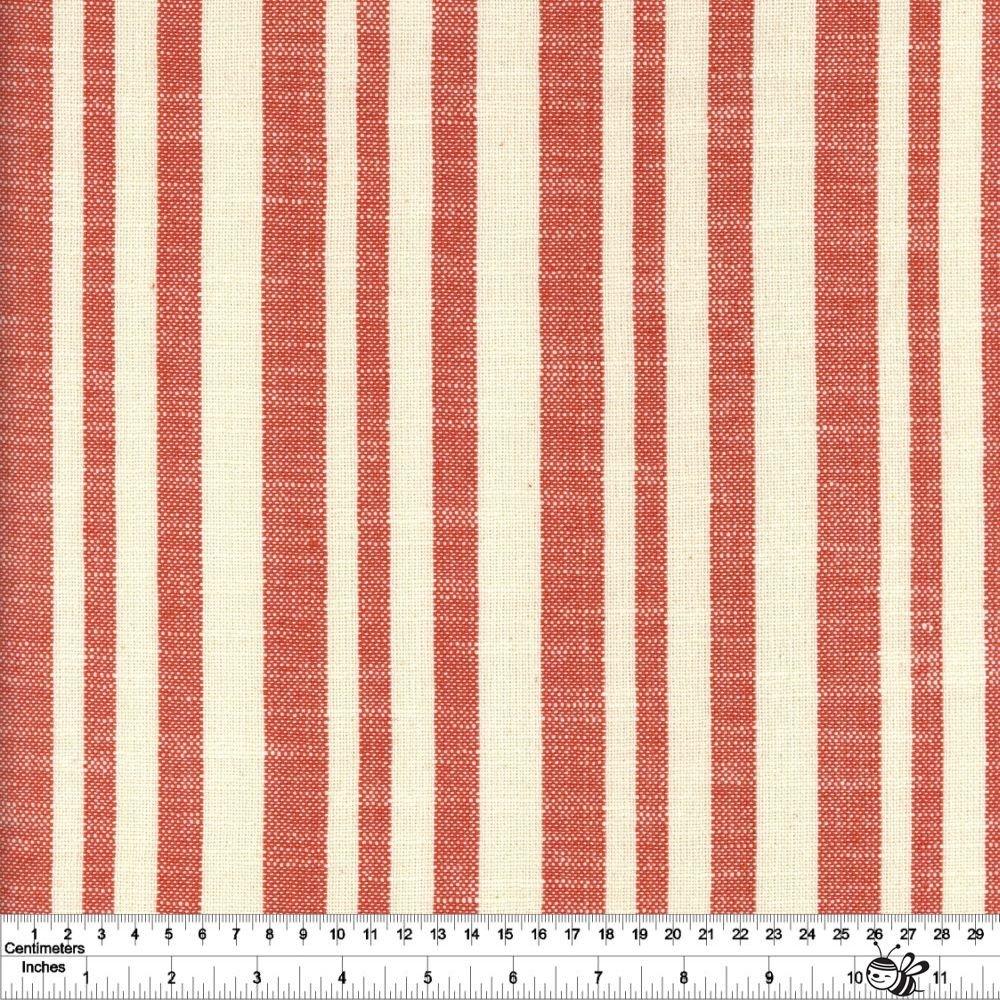 Warp & Weft Heirloom - Woven Texture Stripe - Persimmon