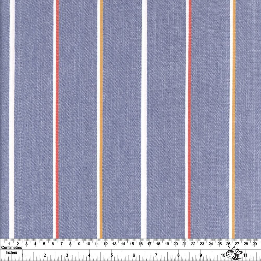 Warp & Weft Heirloom - Linework Lightweight - Blue Slate