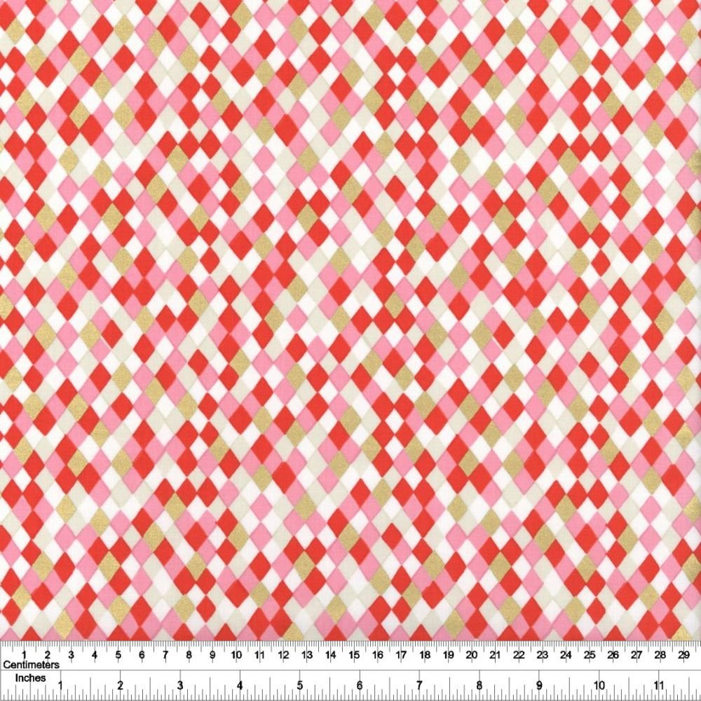 Flurry - Gift Wrap - Ruby Metallic
