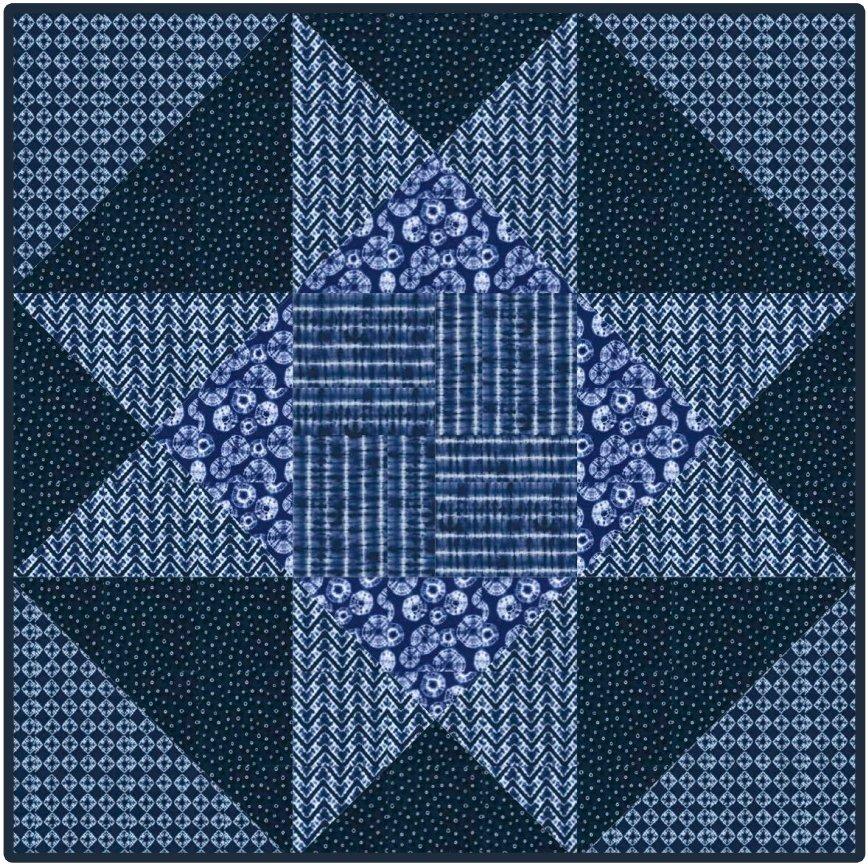 Shibori Star - PDF Pattern
