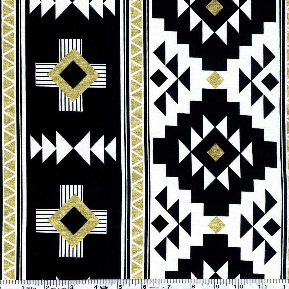 Four Corners - Graphic Stripe - Black Sparkle