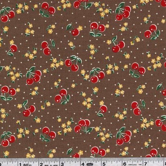 Retro Cherries - Brown