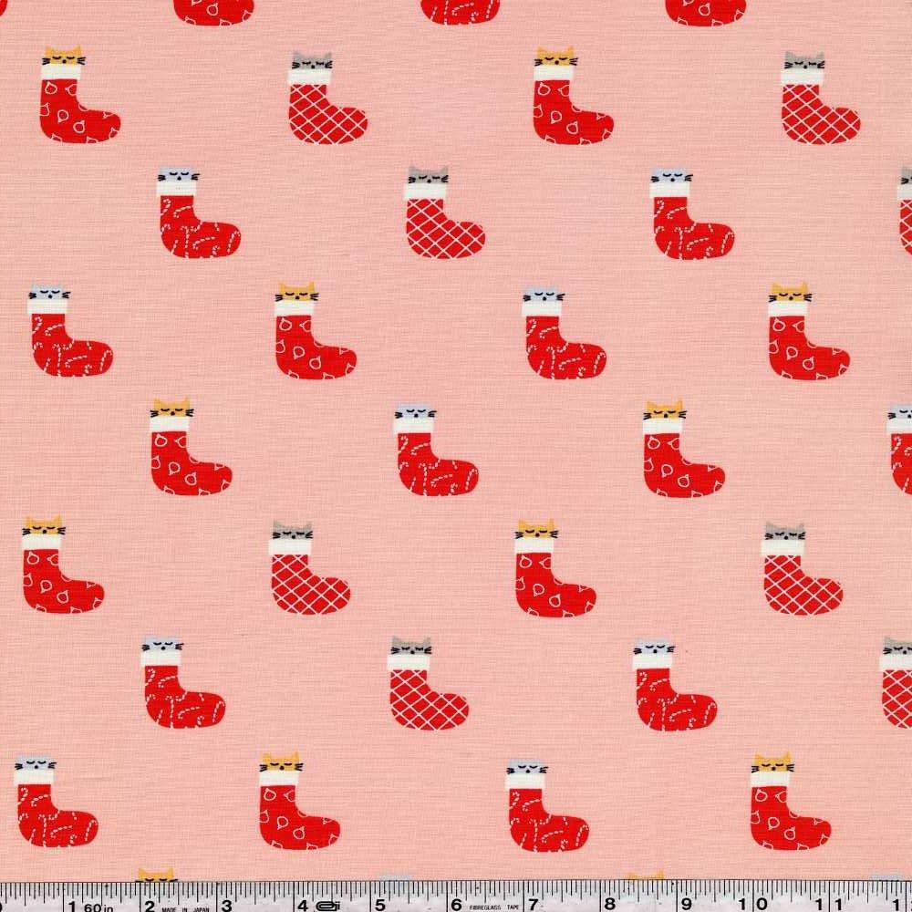 Christmas Darlings - Kittens in Stockings - Peach