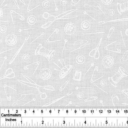 Mini Madness - Sewing - White on White