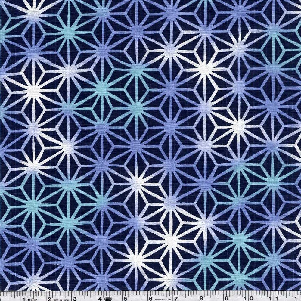 Asanoha Ombre - Blue