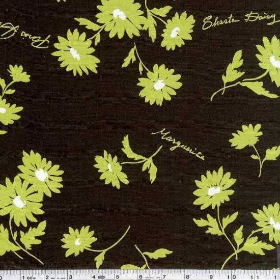Koseki - Paris Daisy - Chocolate & Grass Green