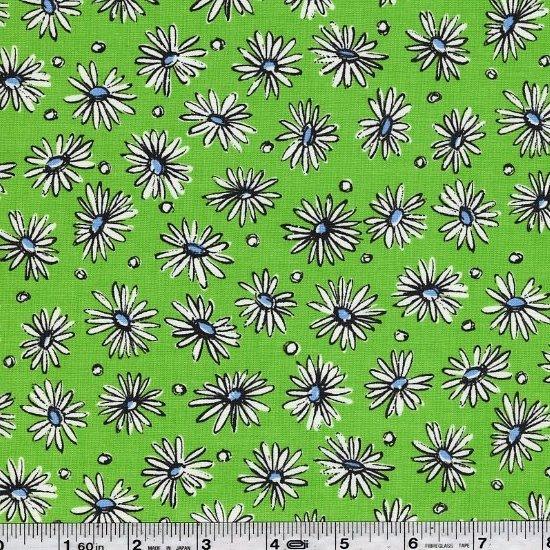 Suzuko Koseki - Scattered Daisies - Kiwi Green
