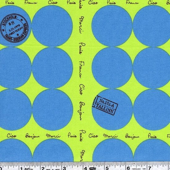 Suzuko Koseki - French Mini Dot - Blue & Lime Green