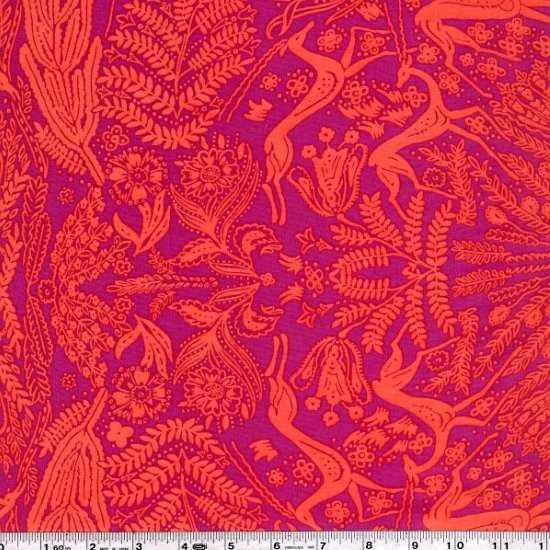 Bright Heart - Oh Deer Voile - Coral