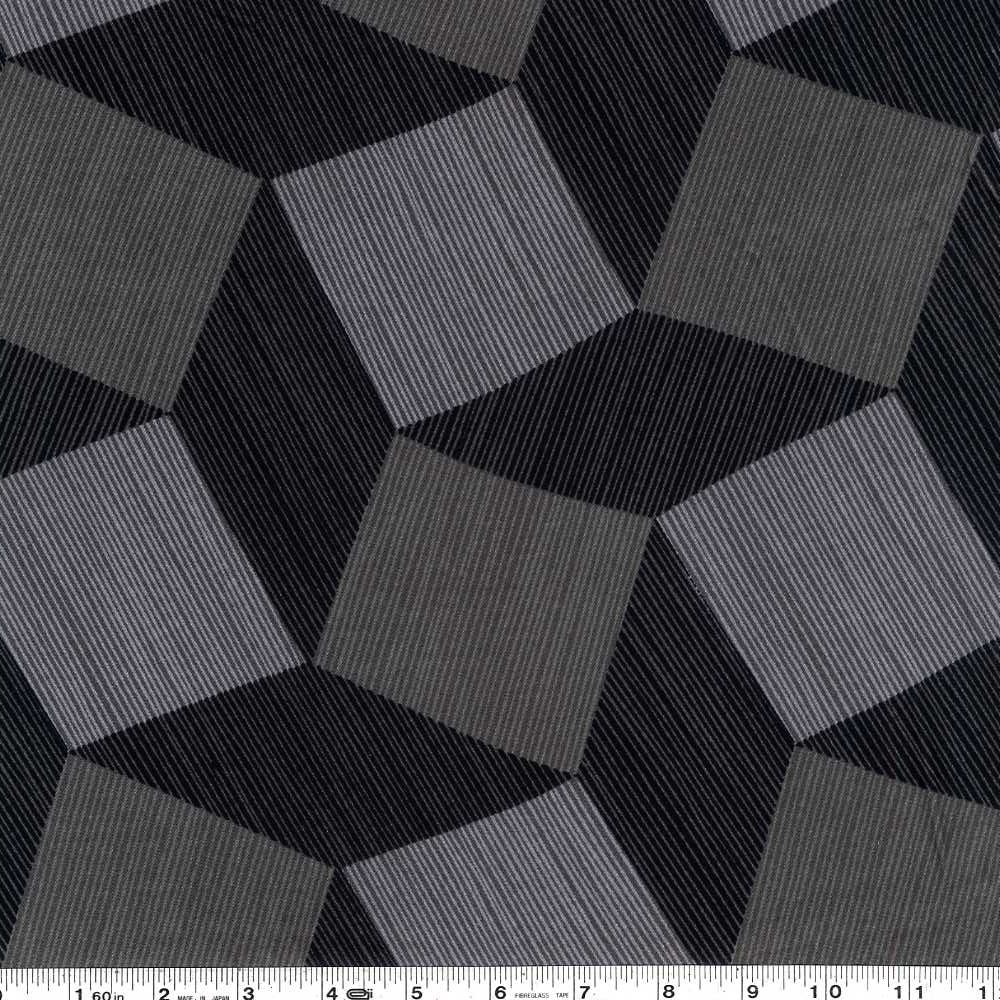 Tumble Blocks Luxe Wide Back - Charcoal