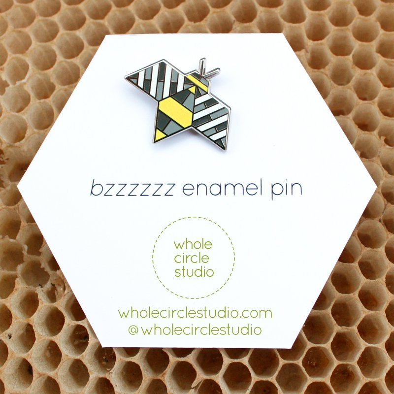 Whole Circle Studio - Bzzzzzz Enamel Pin